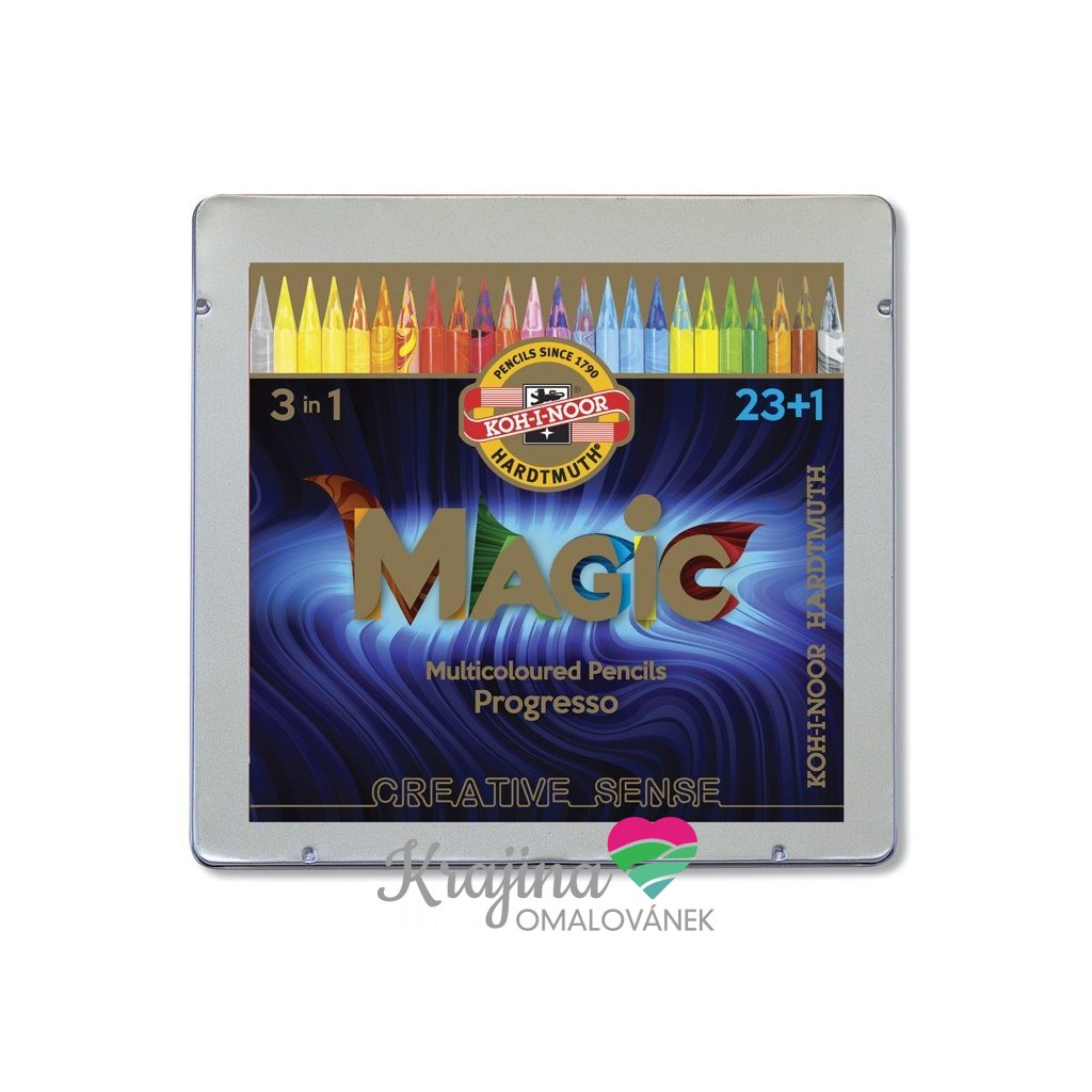 Koh-i-noor, 8774024004PL, Progresso Magic, pastelky v laku, 23 + 1 ks