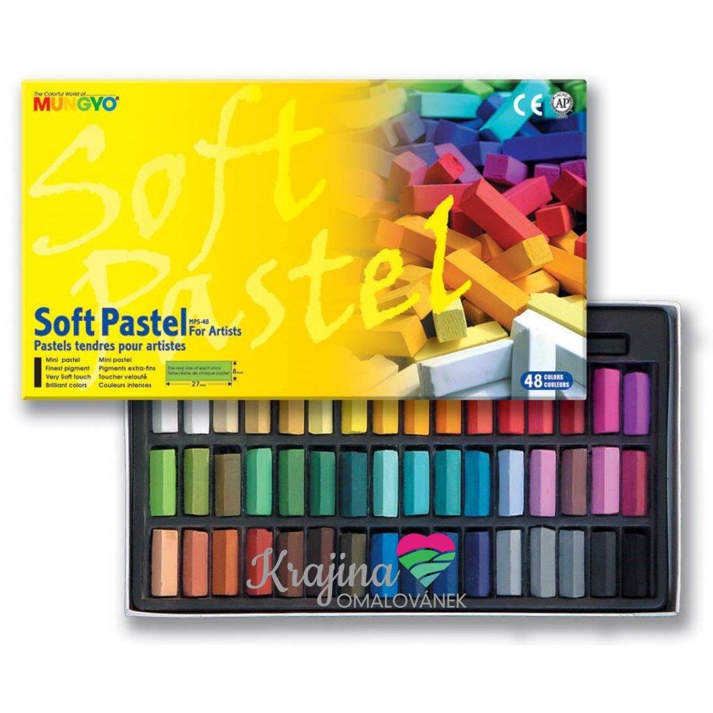 Mungyo, MPS48, Soft pastel for artist, suchý pastel, 48 ks