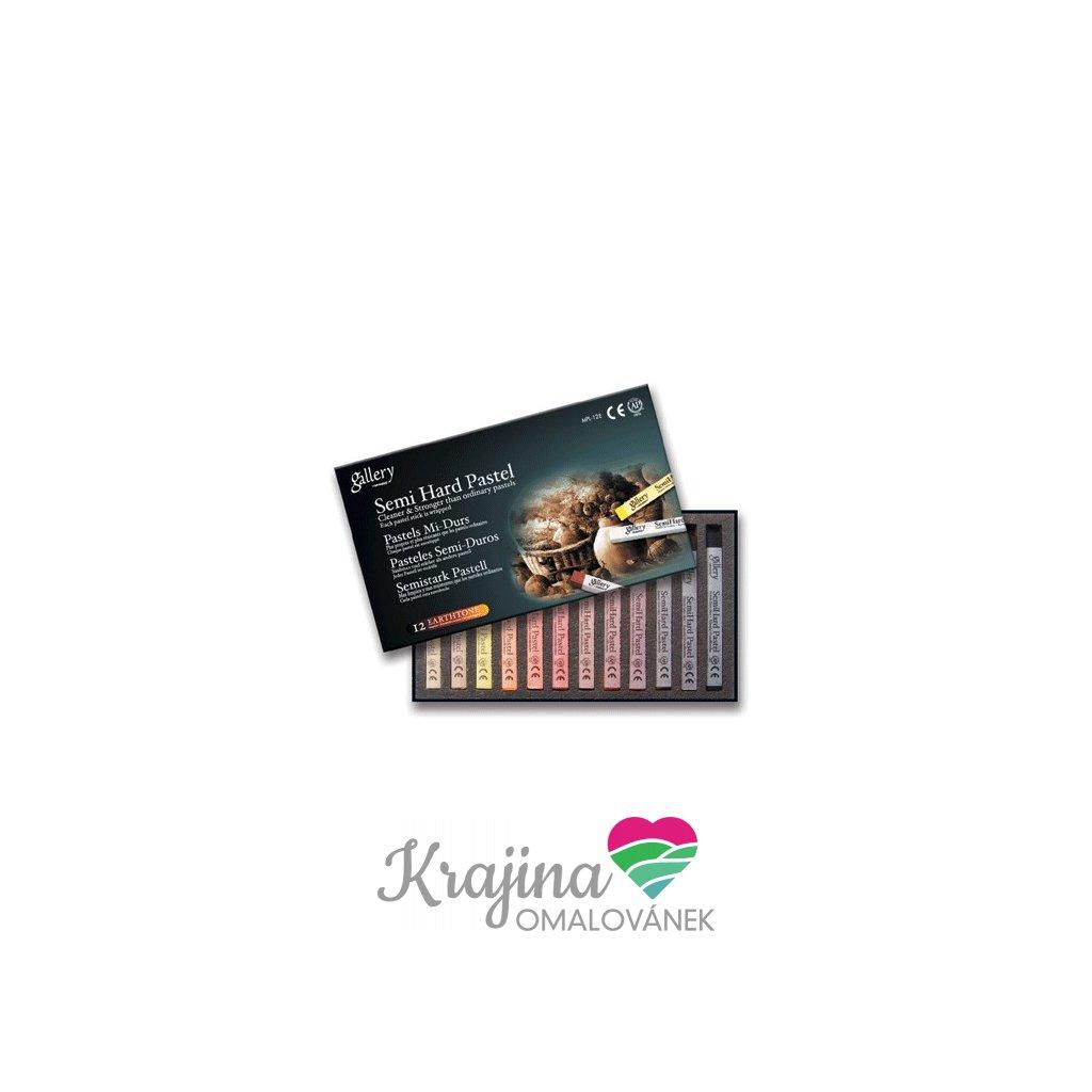 Mungyo, MPV12E, Artiststs soft pastels, sada suchých pastelů, Earth tones, 12 ks