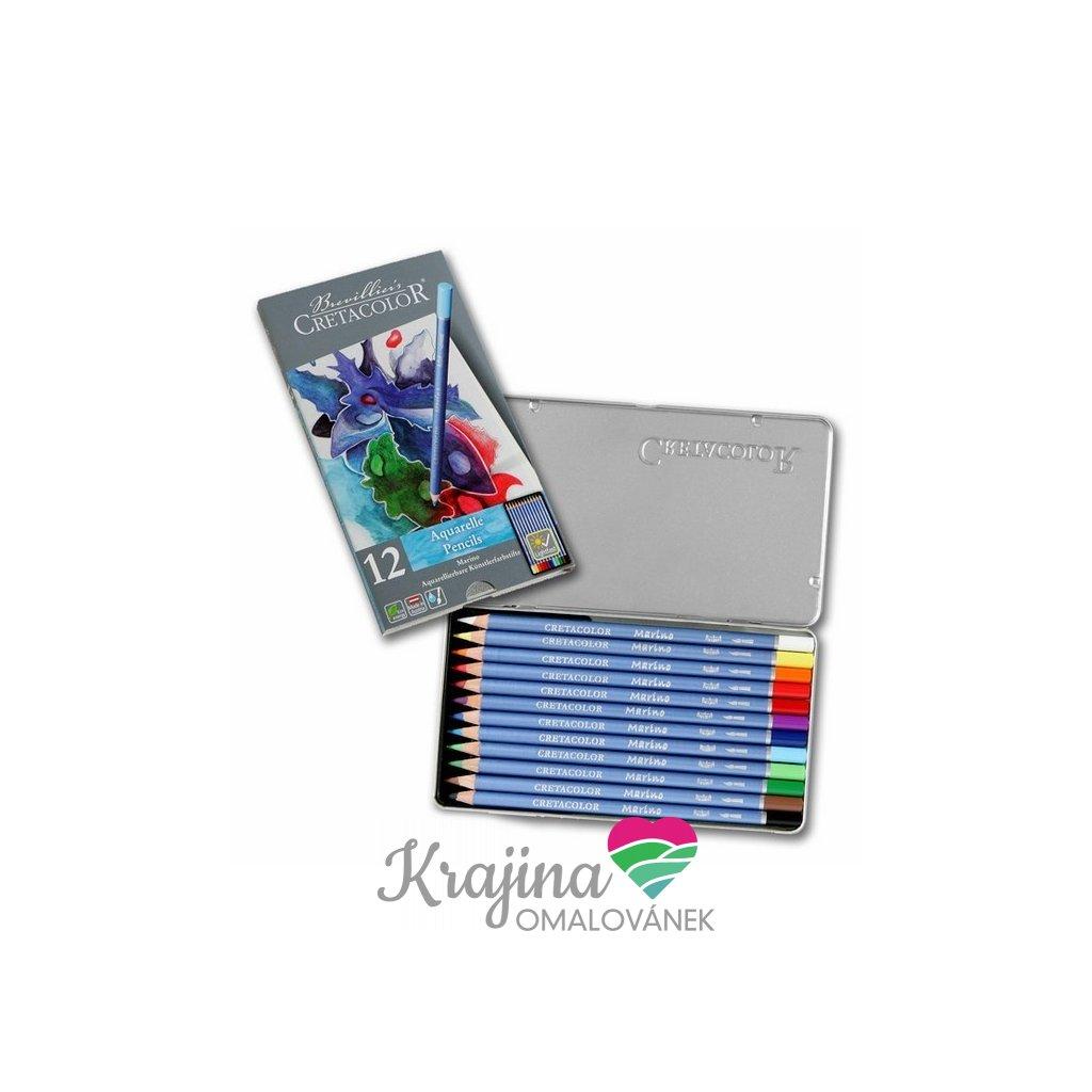 Cretacolor, 240 12, Marino, akvarelové umělecké pastelky, 12 ks
