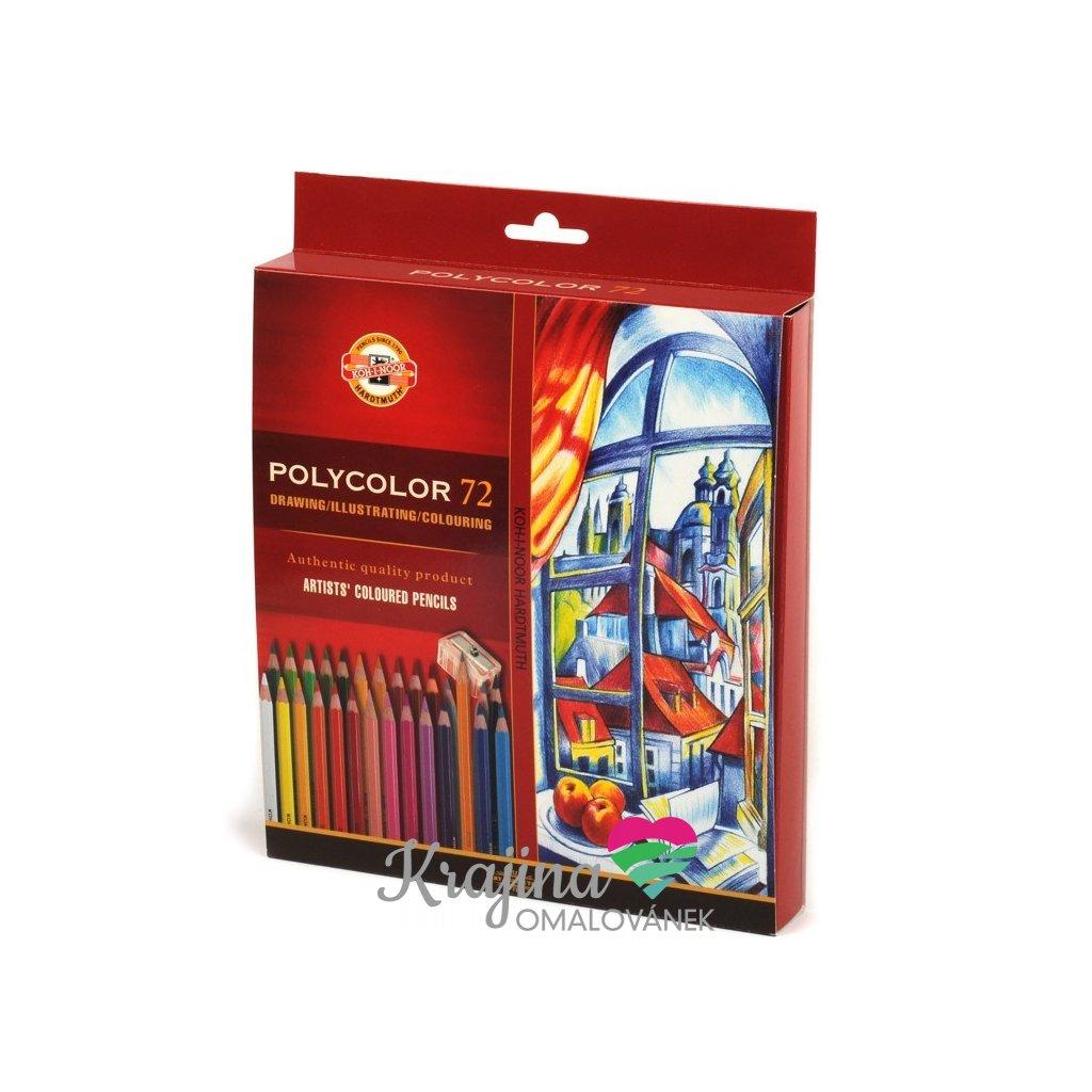 Koh-i-noor, 3837072007KZ, Polycolor, souprava uměleckých pastelek, 72 ks