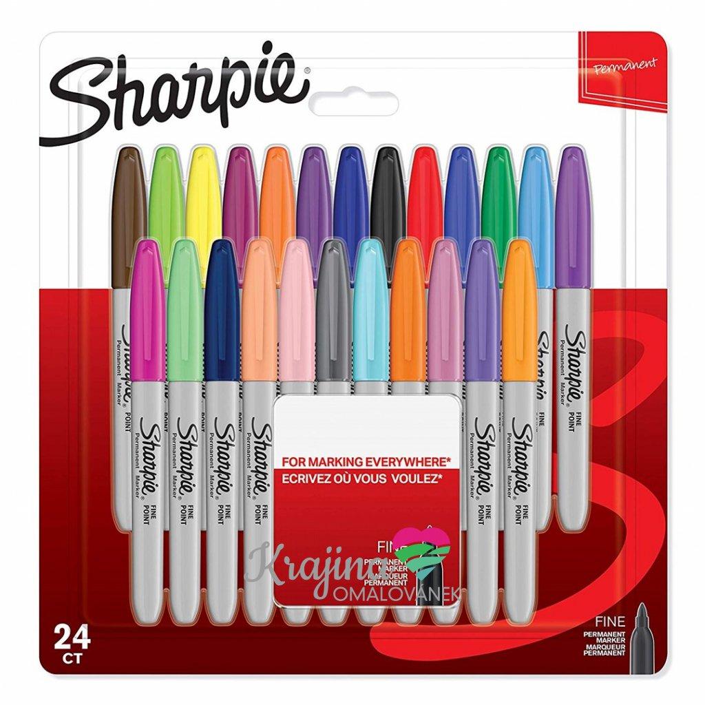 Sharpie, 1996113, permanentní, umělecké fixy z USA,  24 ks