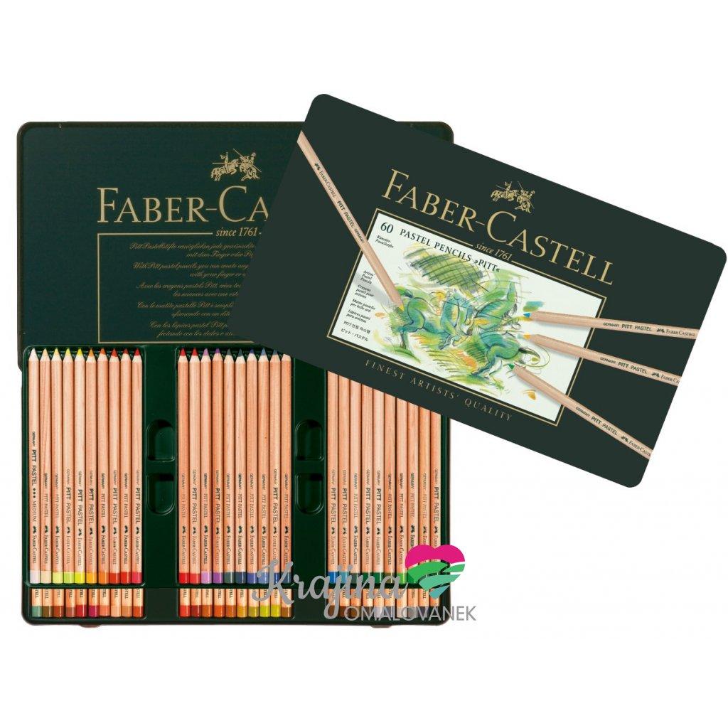 Faber-Castell, 112160, Pitt pastel, suchý pastel ve dřevě, 60 ks