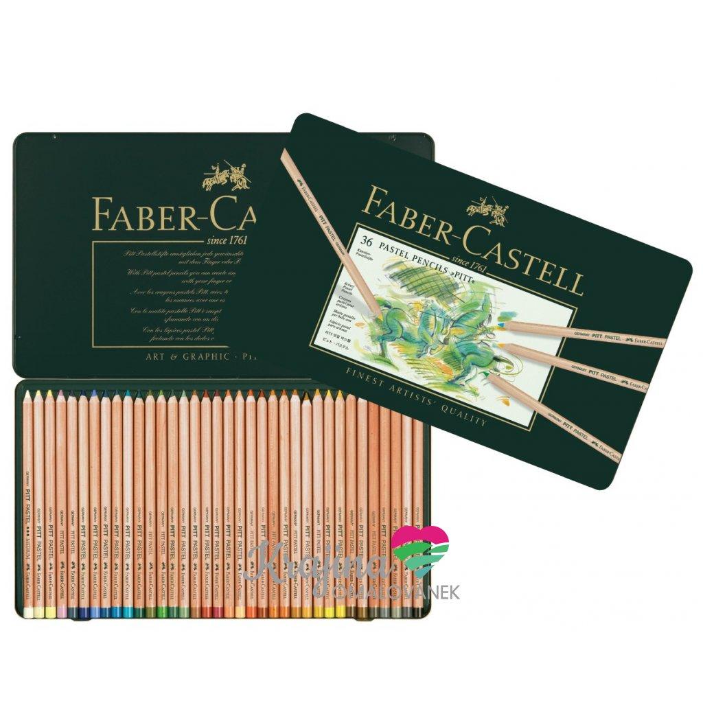Faber-Castell, 112136, Pitt pastel, suchý pastel ve dřevě, 36 ks