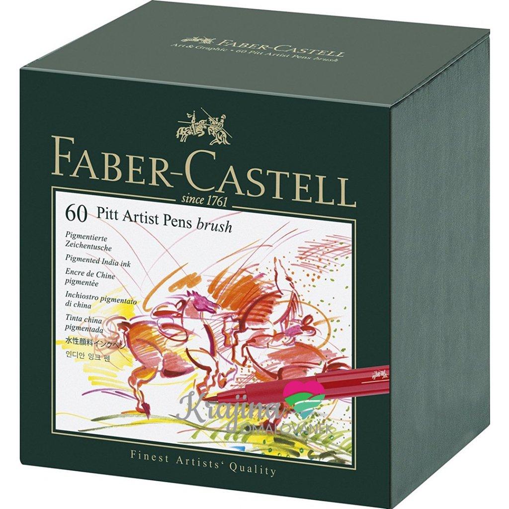 Faber-Castell, 167150, PITT artist pens, studio box, brush popisovače, 60 ks