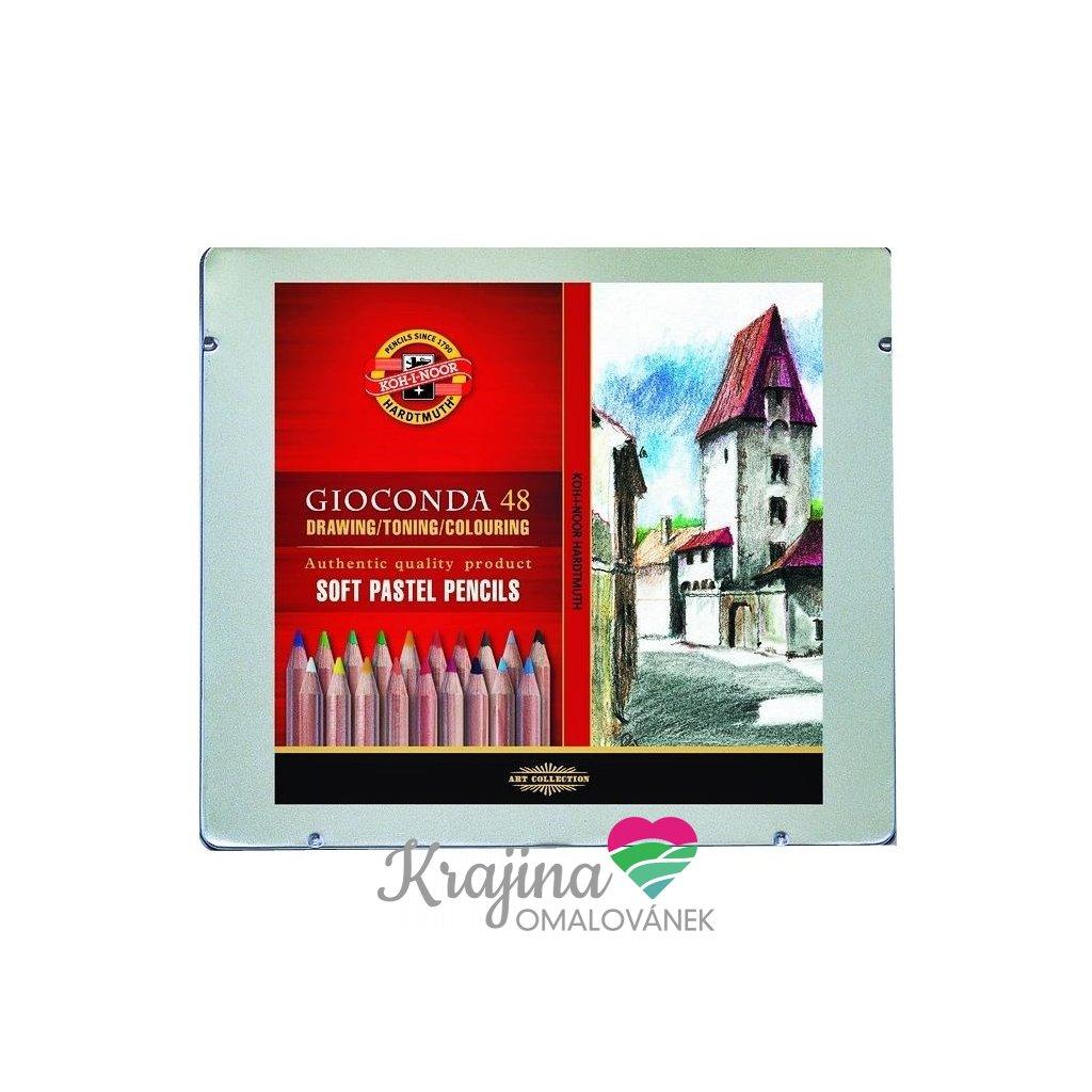 Koh-i-noor, 8829048001PL, Gioconda, sada suchých pastelů v tužce, 48 ks