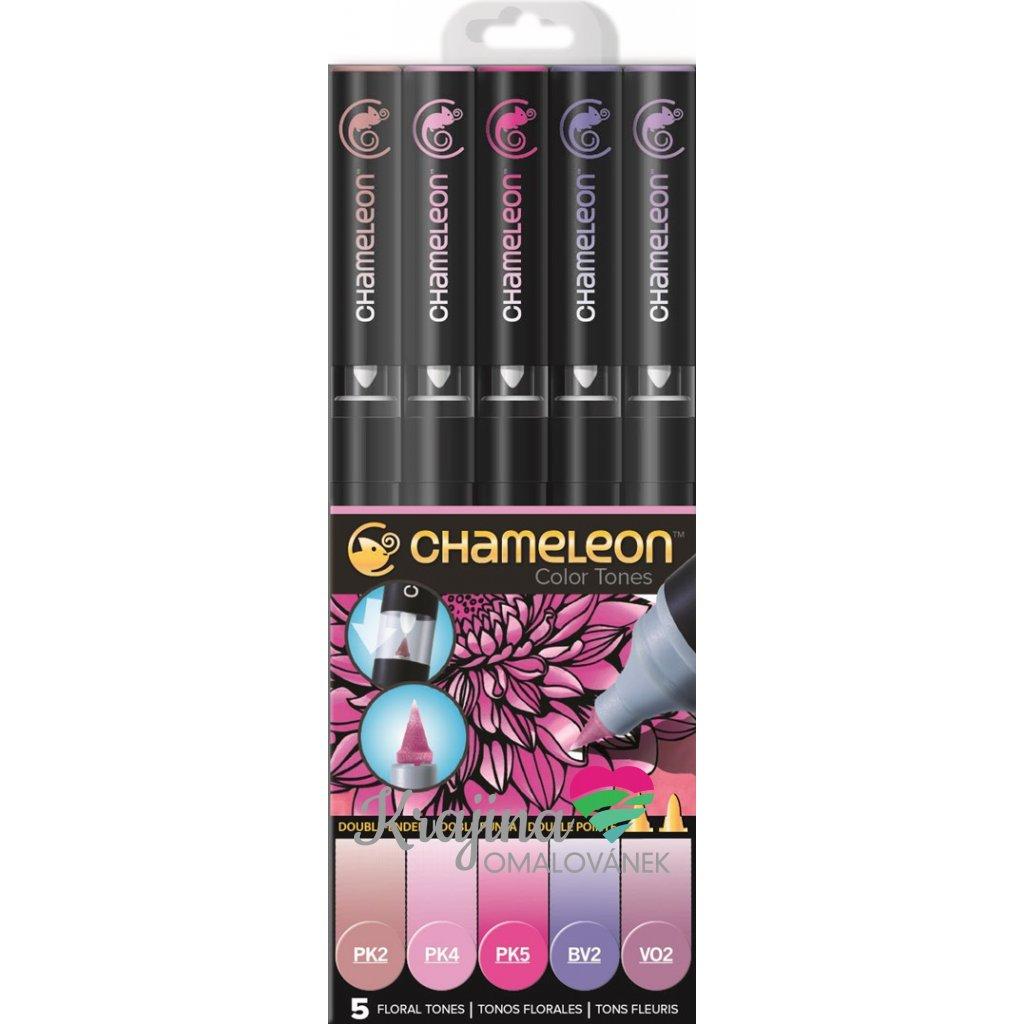 CHAMELEON, CT0501, Color Tones, 5 Pen set, stínovací popisovače, 5 ks, Floral tones