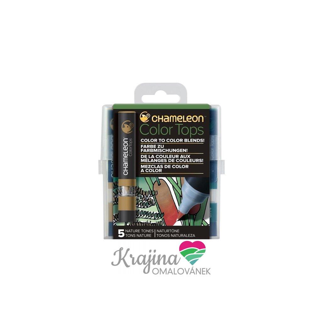 CHAMELEON, CT4514, Color tops, tonovací nástavce pro popisovače,  5 ks, Nature tones