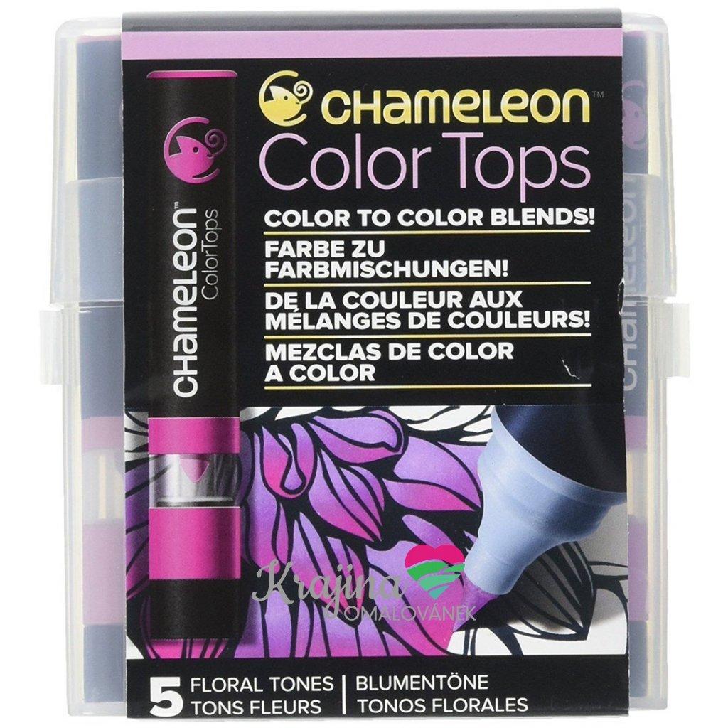 CHAMELEON, CT4512, Color tops, tonovací nástavce pro popisovače,  5 ks, Floral tones