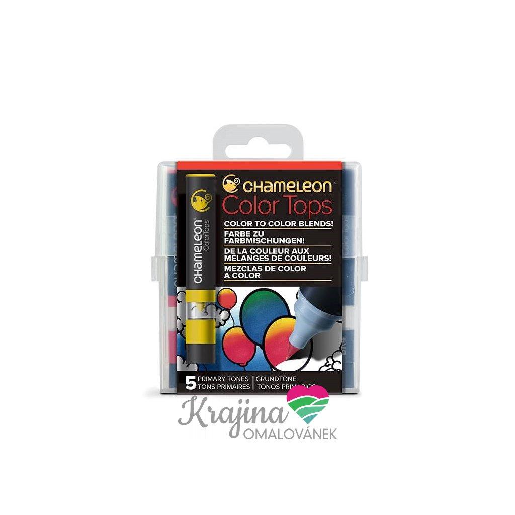 CHAMELEON, CT4502, Color tops, tonovací nástavce pro popisovače,  5 ks, Primary tones