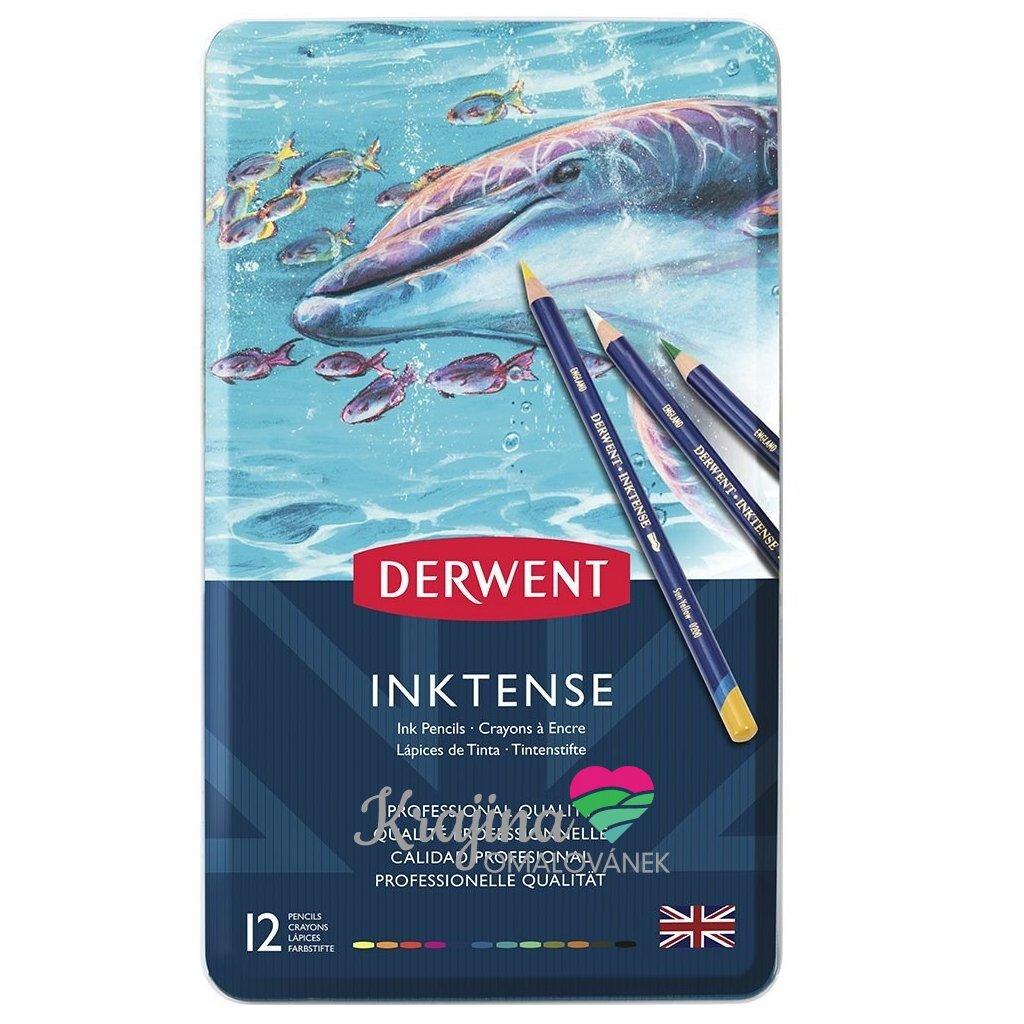 Derwent, 0700928,  Inktense, inkoustové akvarelové pastelky,  12 ks