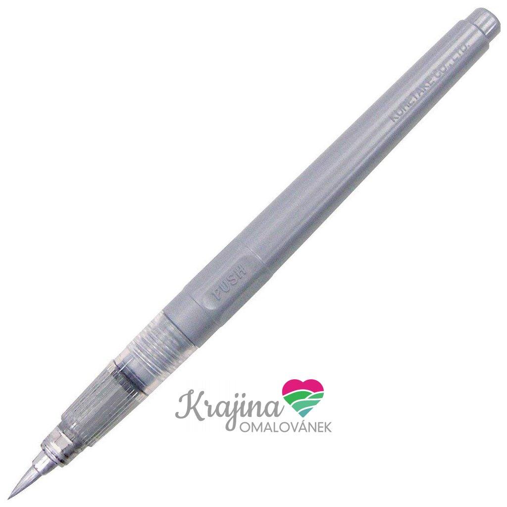 Kuretake, DO150-61S, Fude pen No.61, Brush pen, kaligrafický popisovač, stříbrná, 1 ks