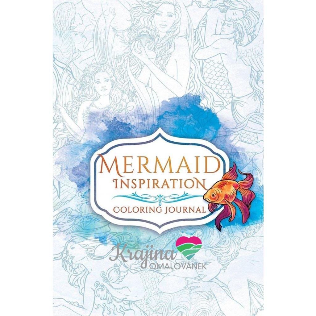 Mermaid inspiration coloring journal, Selina Fenech