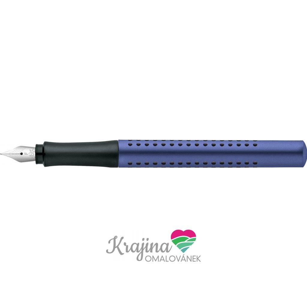 Faber-Castell, 140907, Grip 2011, plnící pero, modrá, hrot F, 1 ks