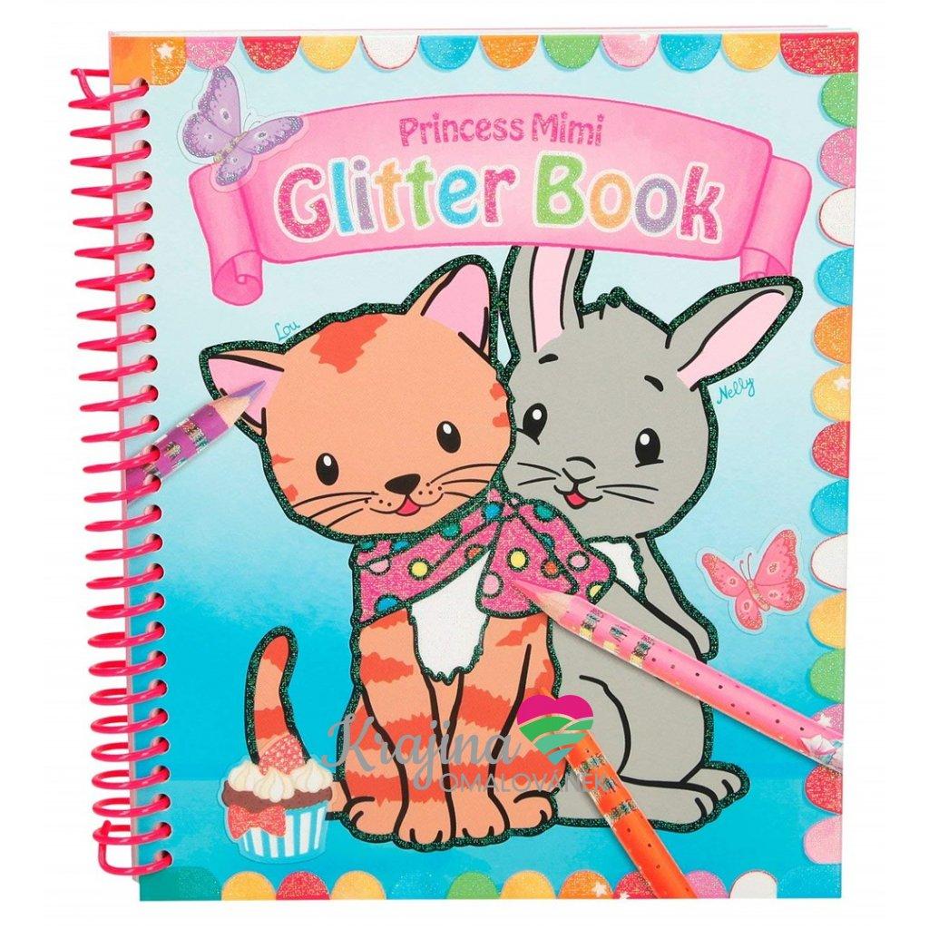 My style princess, 880892, Glitter book, malovací kniha pro nejmenší