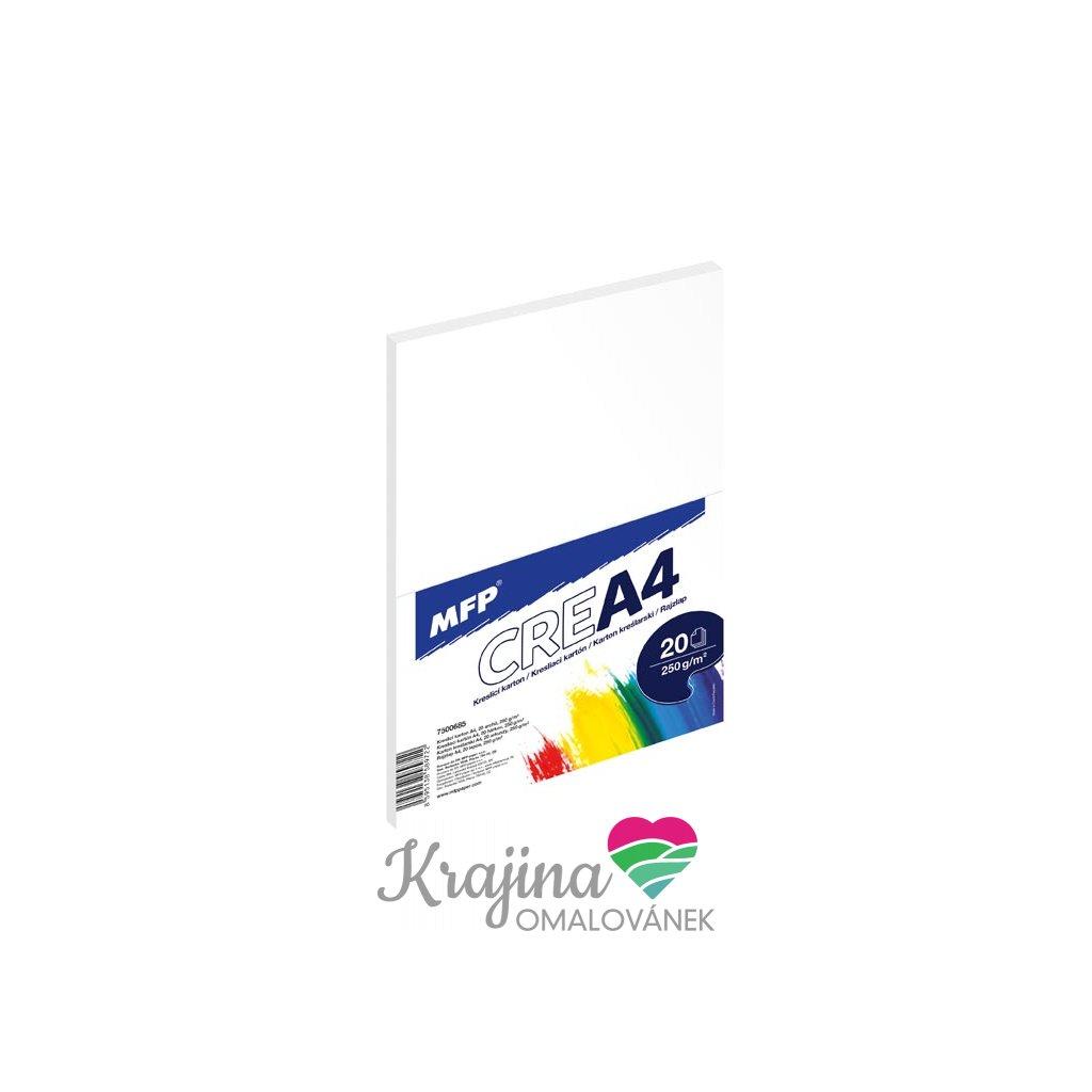 MFP, 7500685, kreslící karton, A4, 250 g, 20 listů