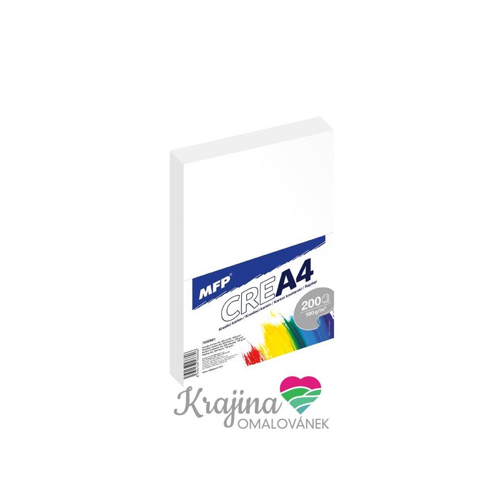 MFP, 7500661, kreslící karton, A4, 190 g, 200 listů