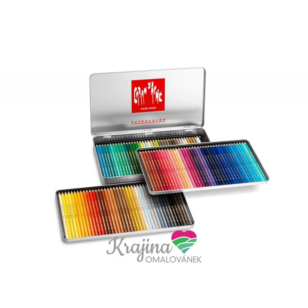Caran d'Ache, 3888.420, Supracolor, umělecké akvarelové pastelky,  120 ks