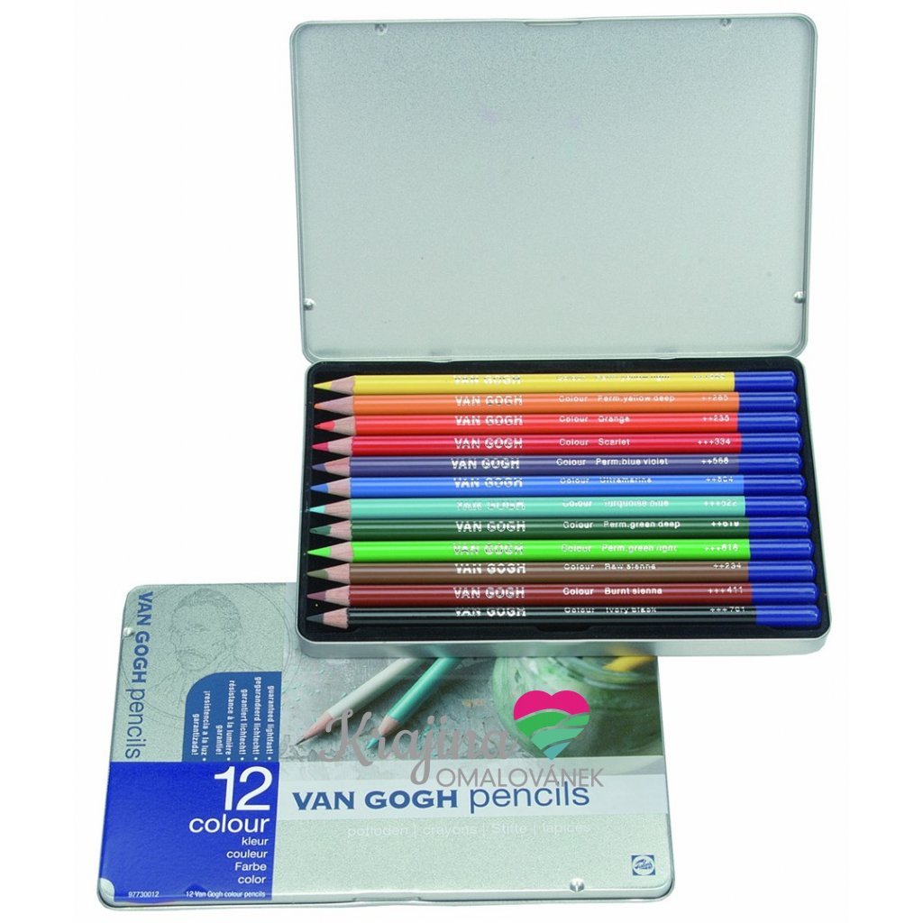 Royal Talens, 97.730.012, Van GOGH, sada uměleckých pastelek, 12 ks