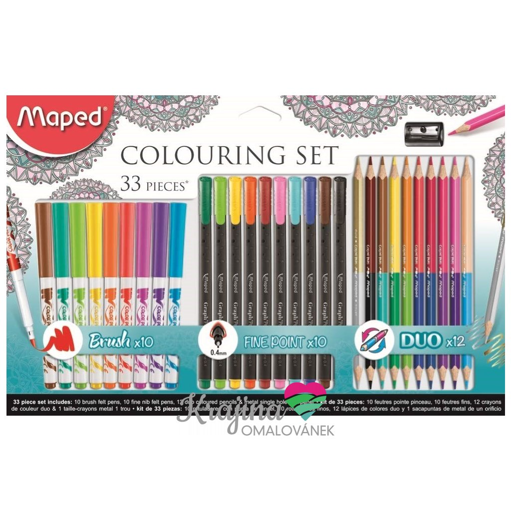 Maped, 897417, výtvarná sada Maped Colouring, 33 ks
