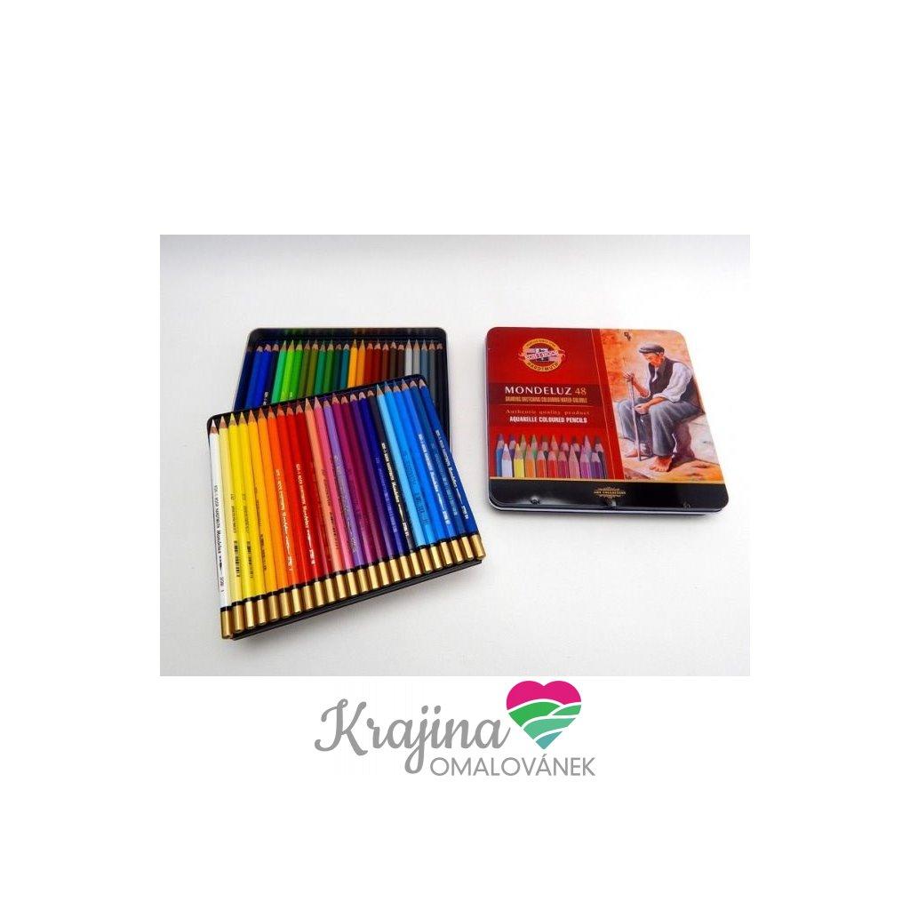 Koh-i-noor, 3726048001PL, Mondeluz, souprava akvarelových pastelek, 48 ks