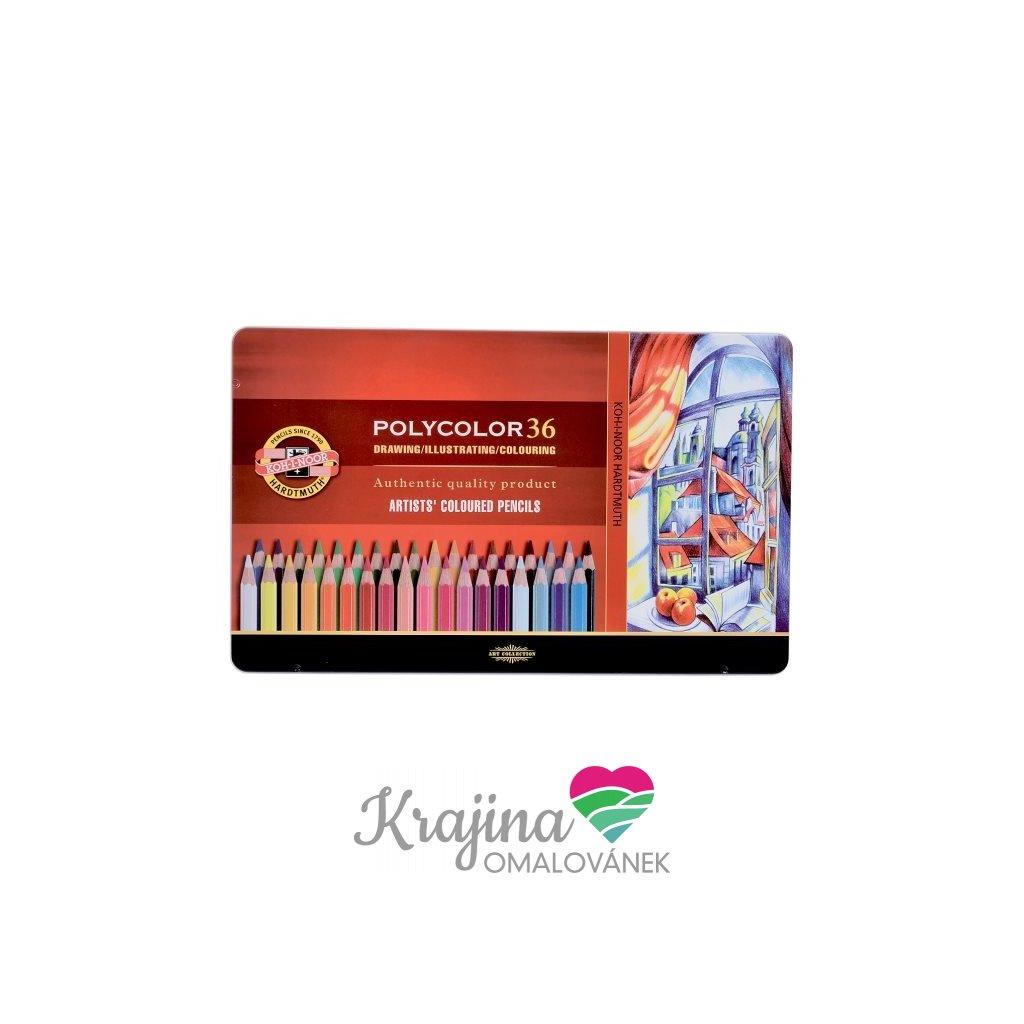 Koh-i-noor, 3825036002PL, Polycolor, souprava uměleckých pastelek, 36 ks