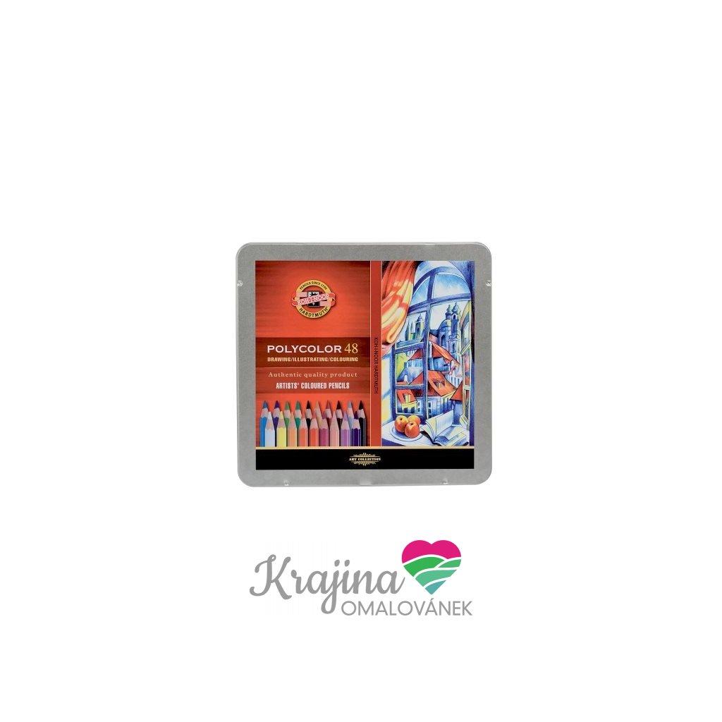 Koh-i-noor, 3826048001PL, Polycolor, souprava uměleckých pastelek, 48 ks