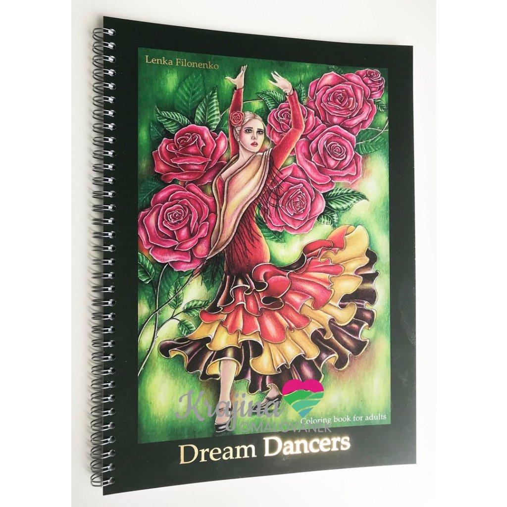 Dream dancers, antistresové omalovánky, Lenka Filonenko