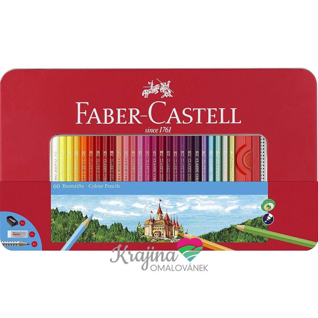 Faber-Castell, 115894, klasické pastelky, 60 ks + příslušenství