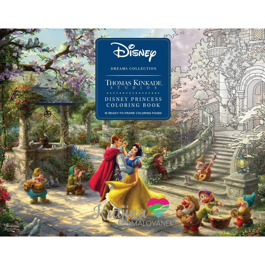 Disney Princess Coloring Poster, Thomas Kinkade