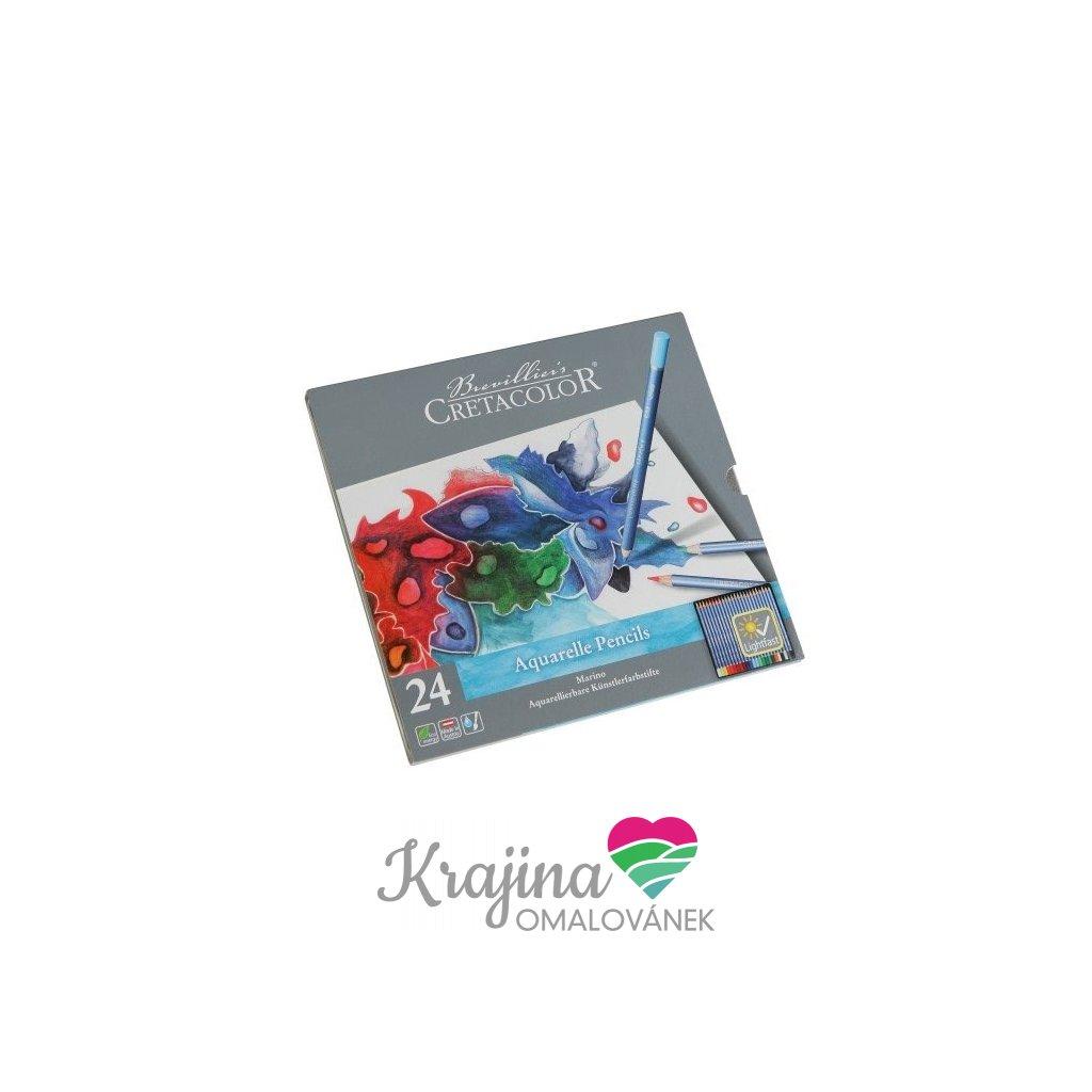 Cretacolor, 240 24, Marino, akvarelové umělecké pastelky, 24 ks