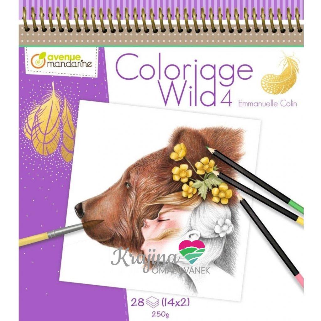 Umělecké omalovánky Coloriage Wild 4, GY093, Emmanuelle Colin