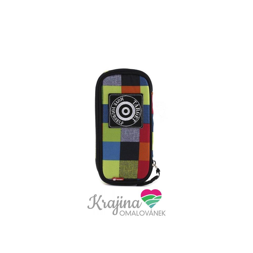 Target, 054121, Rainbow, školní penál, zeleno-modré kostky