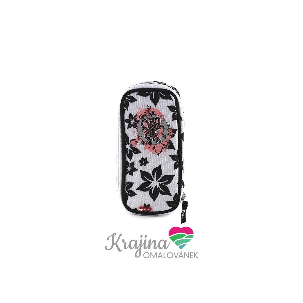 Target, 054128, školní penál, černé květiny