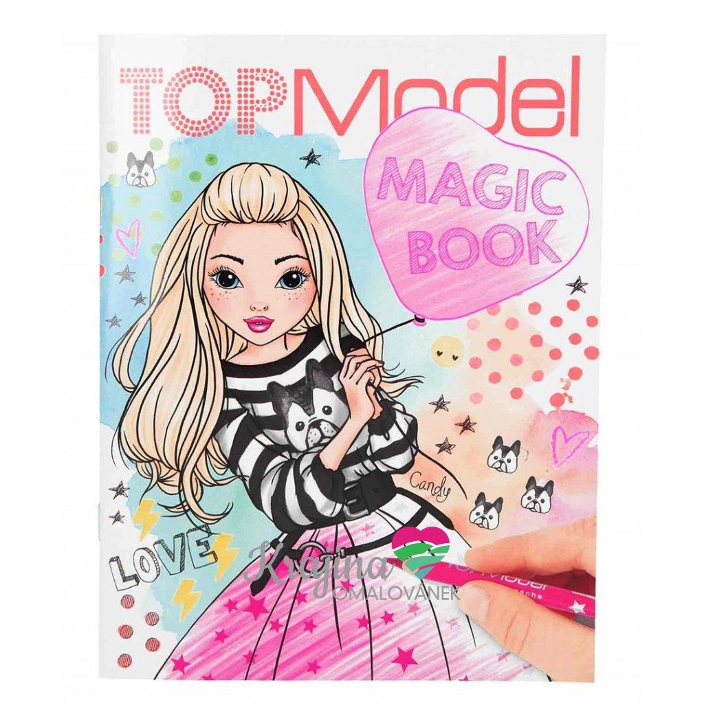 Top model, Magic book, omalovánky pro dívky