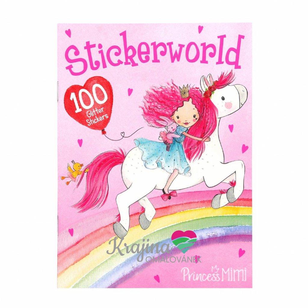 Princess Mimi, Stickerworld, kreativní sešit s nálepkami