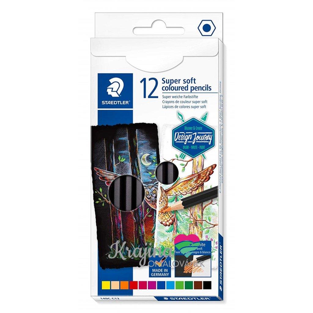 Staedtler, 149C C12, Design Journey, super soft pastelky, sada pastelek 12 ks