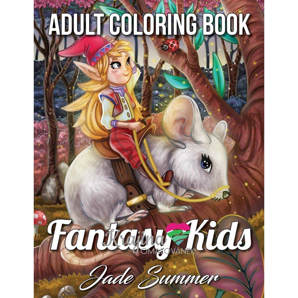 Fantasy Kids, antistresové omalovánky, Jade Summer