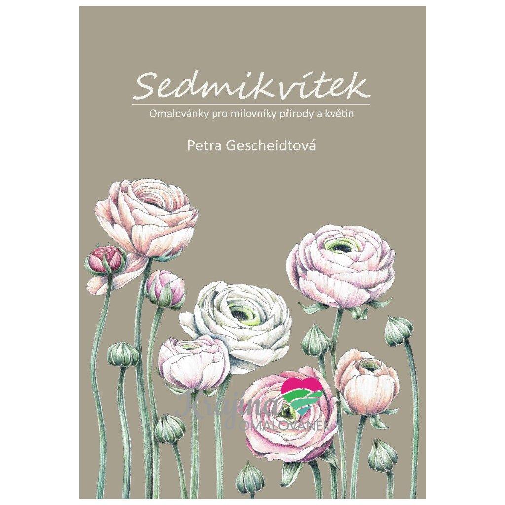 Sedmikvítek s podpisem autorky, antistresové omalovánky, Petra Gescheidtová