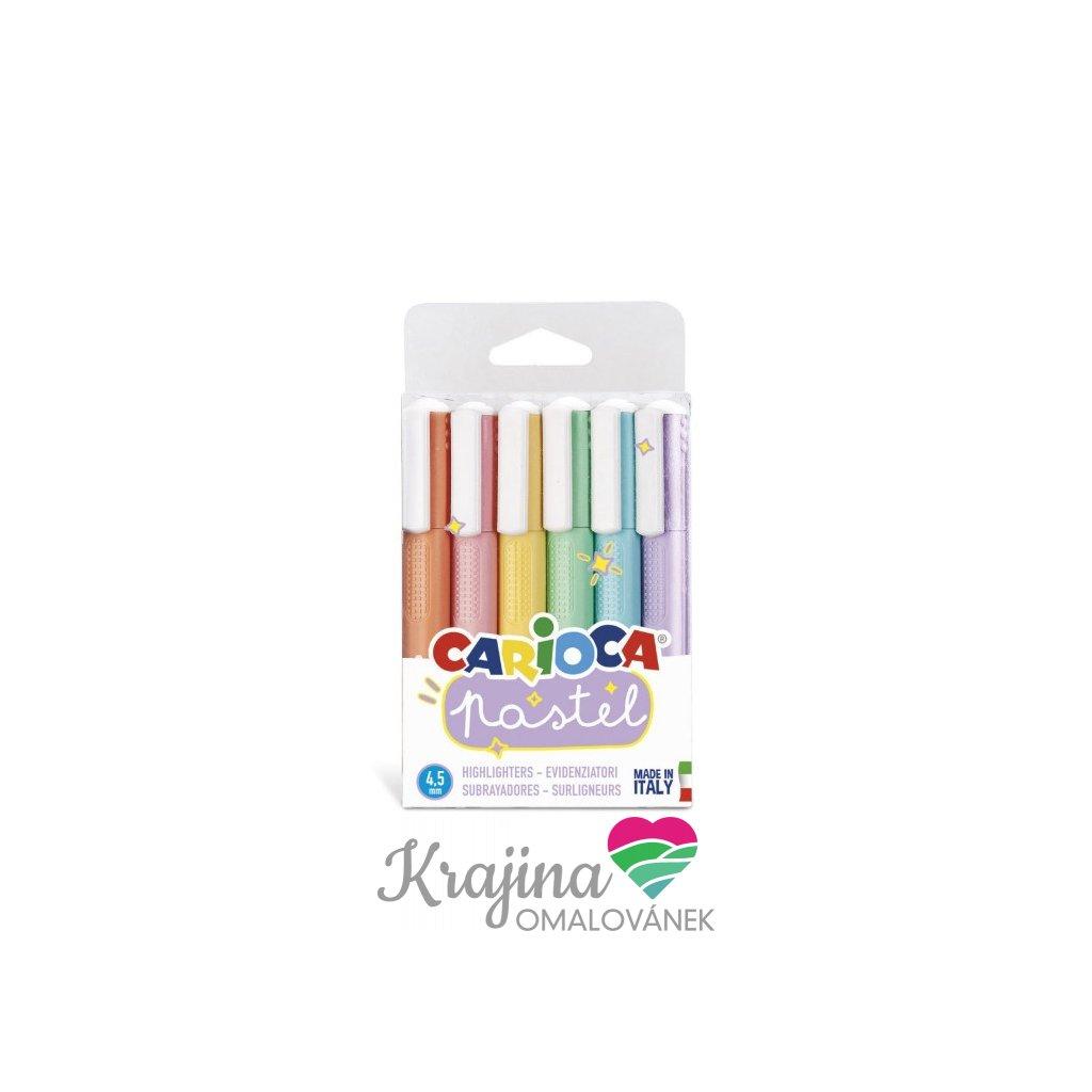 Carioca, 43033, sada zvýrazňovačů, pastelové barvy, 6 ks