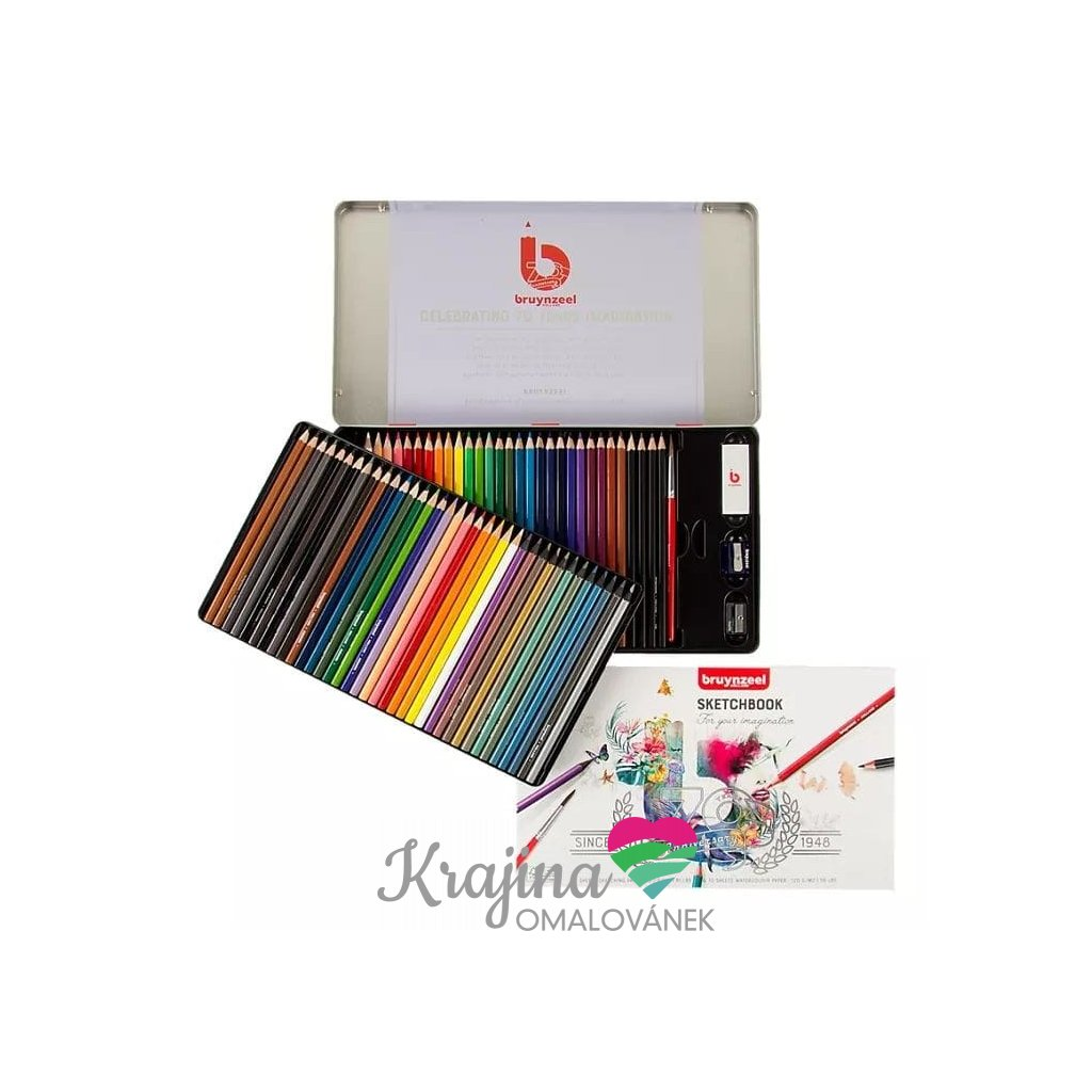 Bruynzeel, 60319070, sada pastelek a tužek s příslušenstvím, limitovaná edice, 70 ks