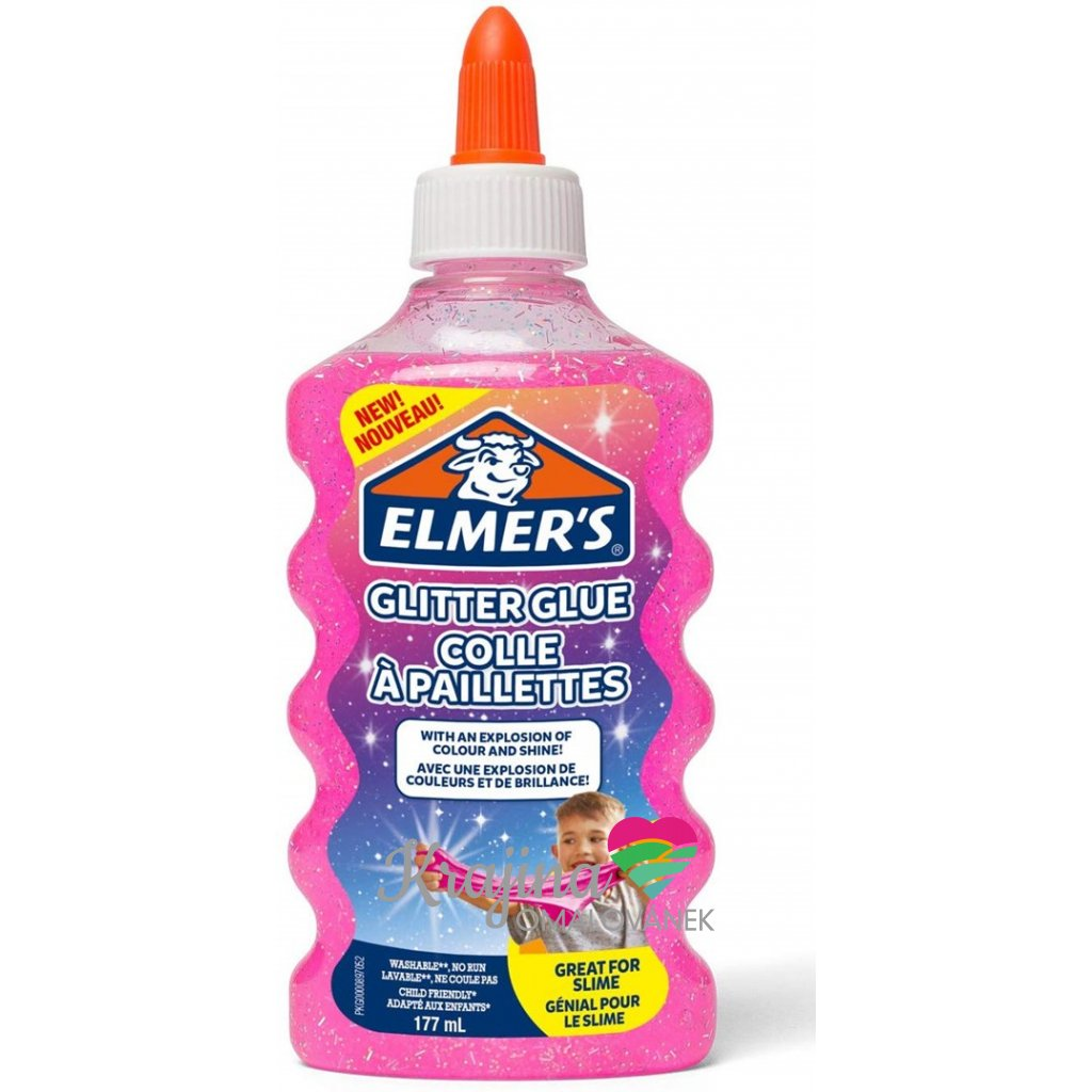 Elmer's, 2077249, lepidlo pro výrobu slizu, 177 ml, růžová