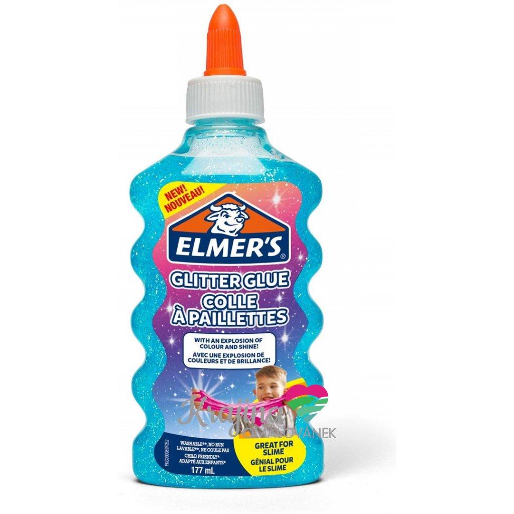Elmer's, 2077252, lepidlo pro výrobu slizu, 177 ml, tyrkysová