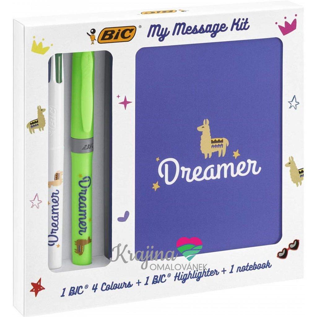 Bic, 972091, My message kit, sada zápisníku a psacích potřeb, Dreamer