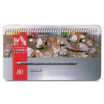 Caran d'Ache, CD0666_380_D, Pablo, umělecké pastelky nejvyšší kvality, 80 ks