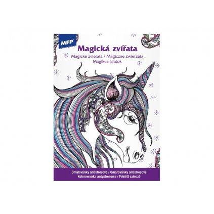 Magická zvířata, antistresové omalovánky, MFP
