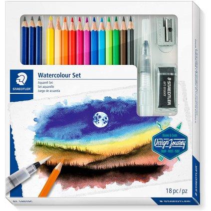sada akvarelových pastelek s příslušenstvím 18ks