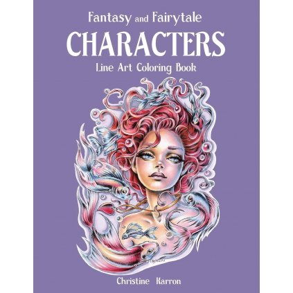 Fantasy and Fairytale CHARACTERS, line art, Christine Karoon