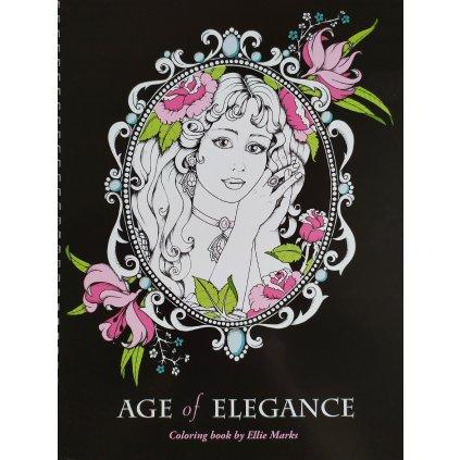 Age of elegance, antistresové omalovánky s podpisem autorky, Ellie Marks