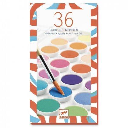 vodové barvy 36 základních barev